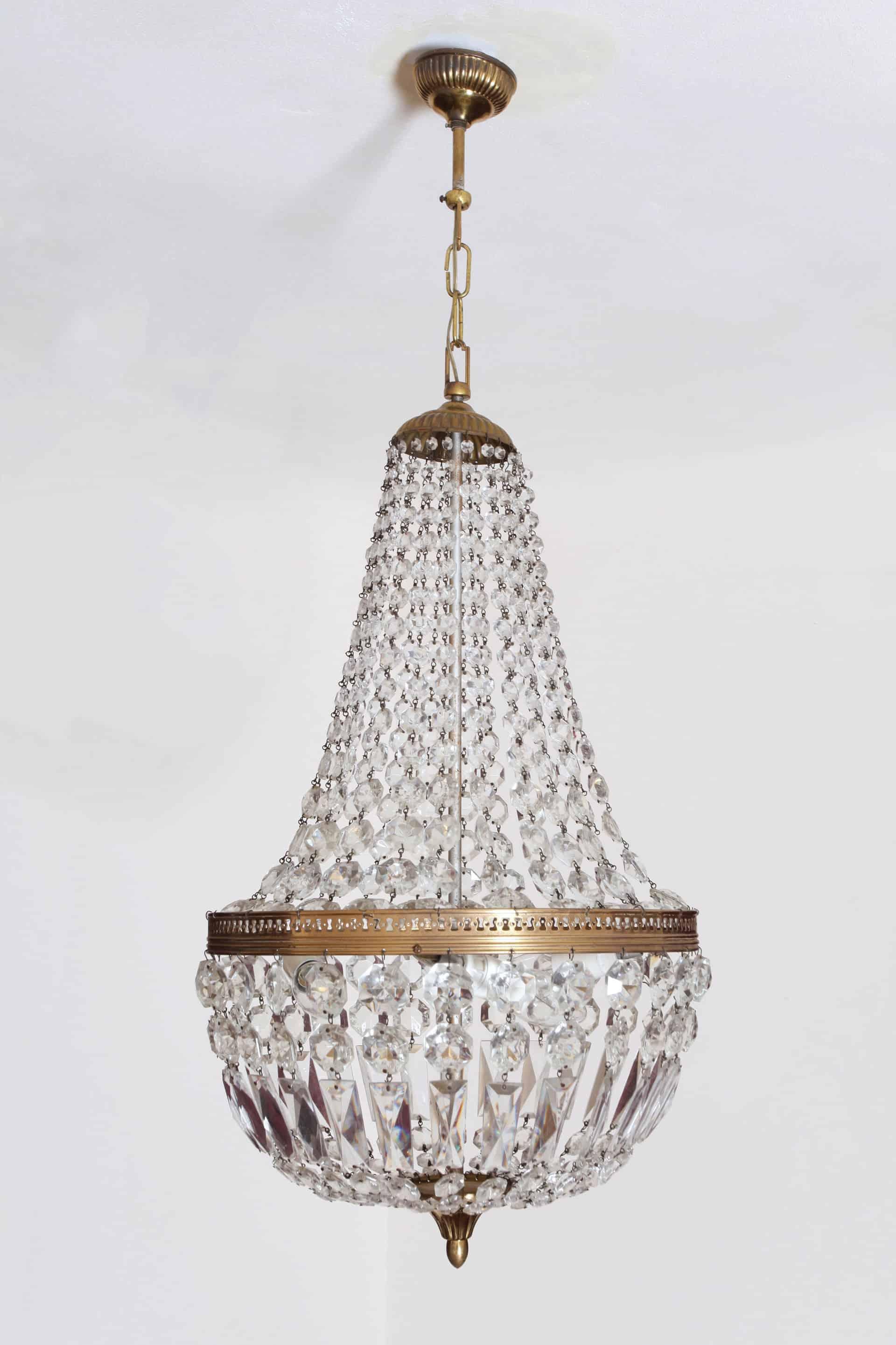 Kristall-Kronleuchter im Stil von Louis XVI | sperren Stračov