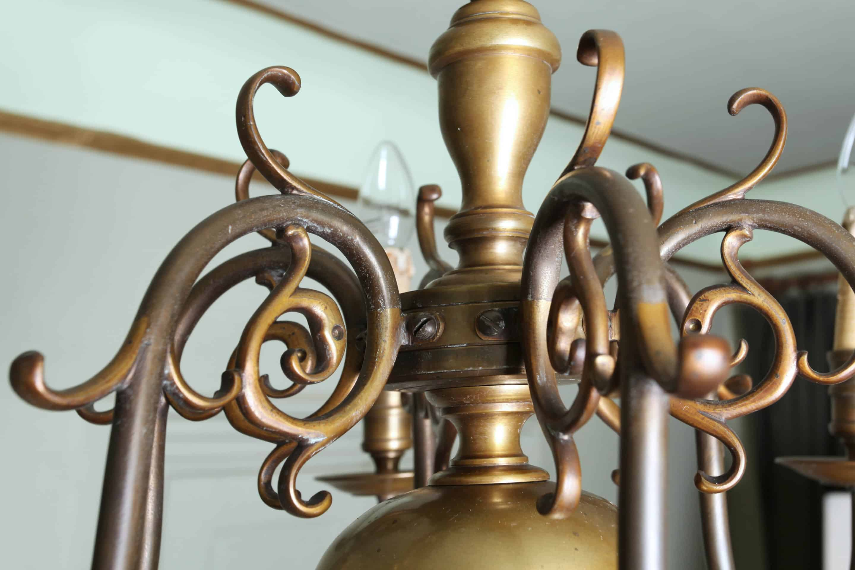 bronze kronleuchter mit einem lwen die wappen lager - Bronze Kronleuchter